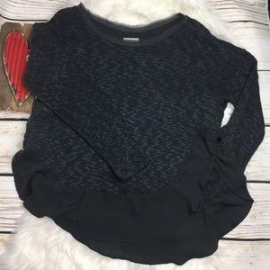 Anthropologie Deletta Mixed Media Crop Sweater
